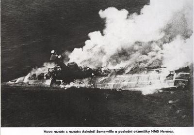 Potápějící se HMS Hermes