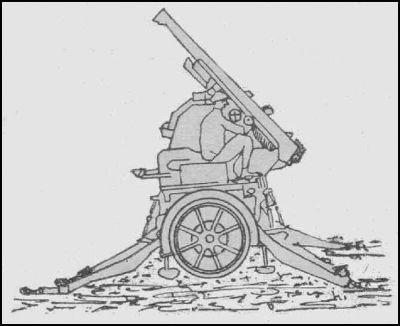 Canon de 75 Mle 1897 sur voiture remorque