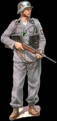 voják 13.běloruského policejního praporu