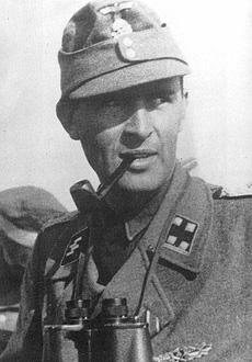 Obersturmbannführer Richard Schulze-Kossens, photo courtesy Mark C. Yerger - Waffen SS Commanders Vol.2