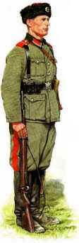 Seržant Jezdeckého pluku Platov 1942-1943