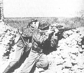 Lotyšští odstřelovači na východní frontě.