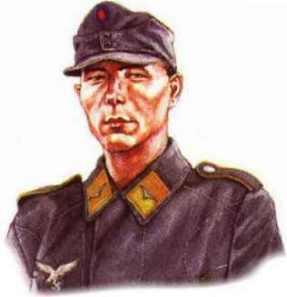 Ruský dobrovolník z pozemních jednotek Luftwaffe 1943-1945