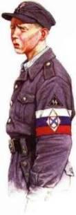 Ruský dobrovolník naverbovaný SS pomocných sil Flaku 1944-1945.