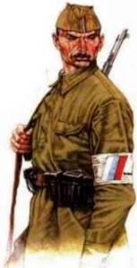 Voják ruské strážní jednotky
