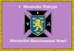 Vlajka používaná divizí v roce 1945 poté, co se stala součástí UNA.